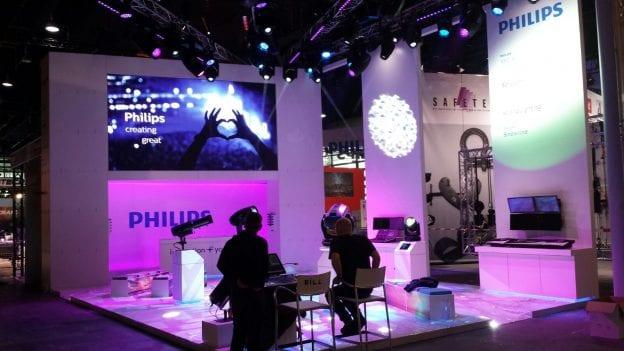 audiovisuele inrichting beurs Philips stand