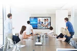 Met meer in één ruimte video-vergaderen tijdens de '1,5 meter economie'