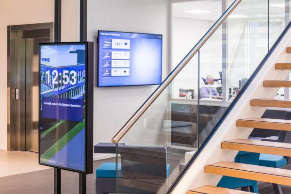 narrowcasting beeldschermen op kantoor