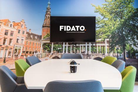 audiovisuele projectinrichting vergaderruimte met videoconferencing